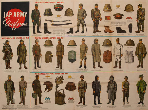 WWII Newsmap Jap Army Uniforms