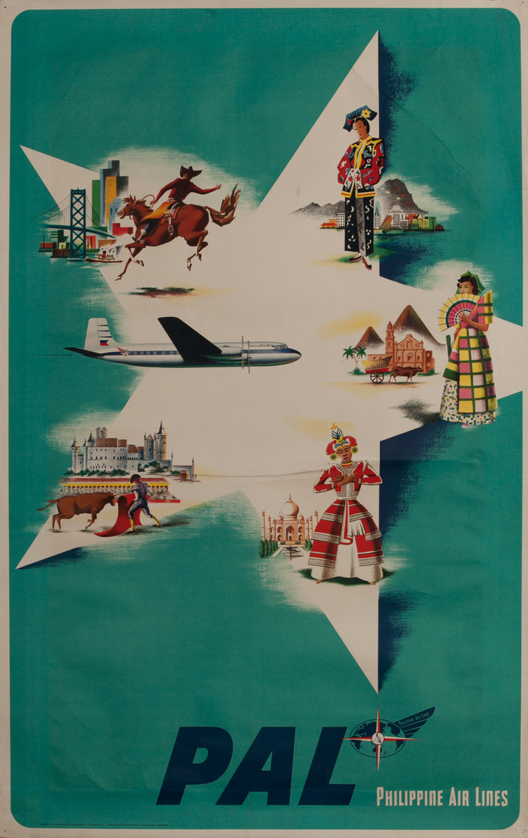 Philipne Air Lines Travel Poster Star