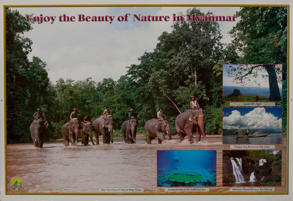 Enjoy the Beauty of Nature in Myanmar Travel Poster