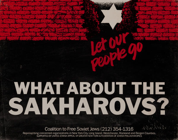 Let our people go, What about the Sakharovs? Soviet Jewery Poster