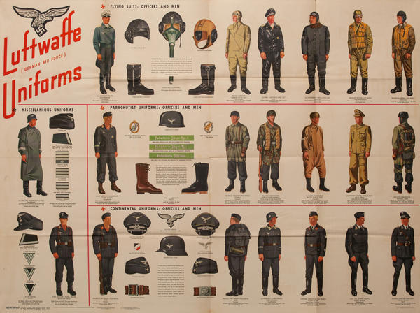WWII Newsmap Luftwaffe (German Air Force) Uniforms