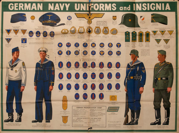 WWII Newsmap German Navy Uniforms and Insignias
