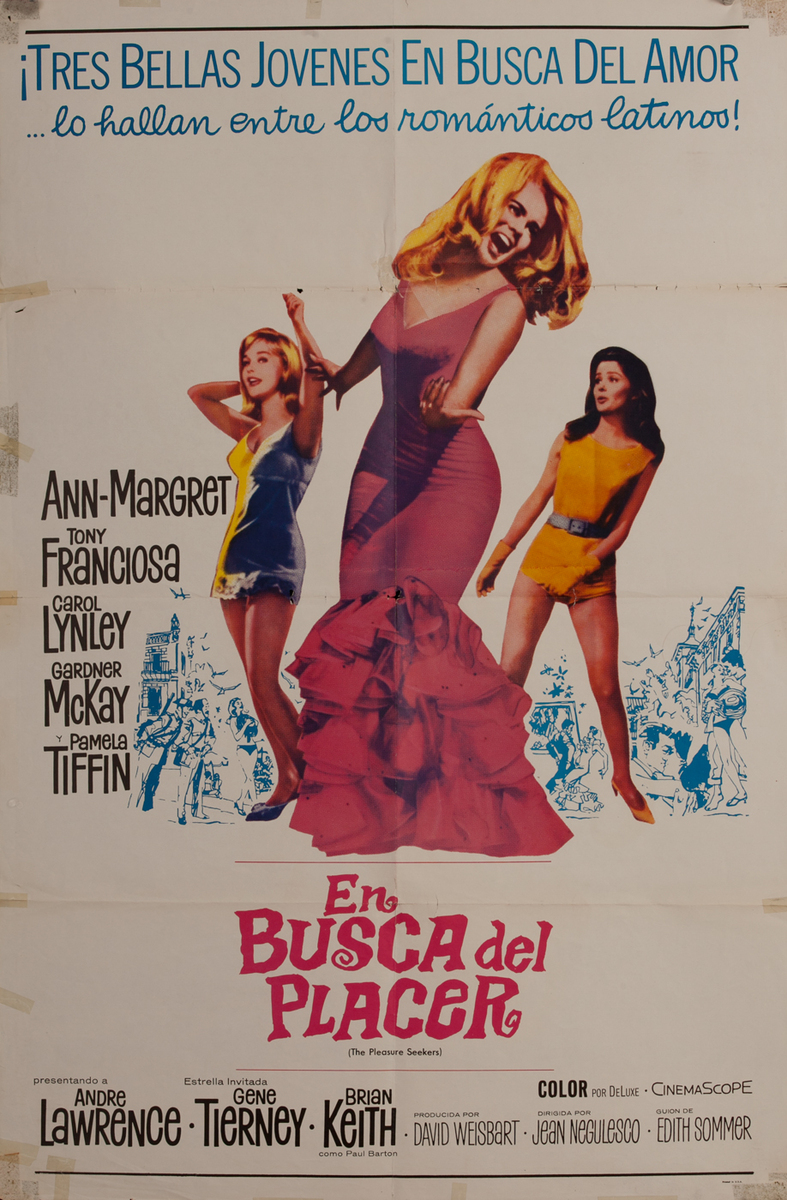 The Pleasure Seekers Original Vintage Movie Poster Spanish release