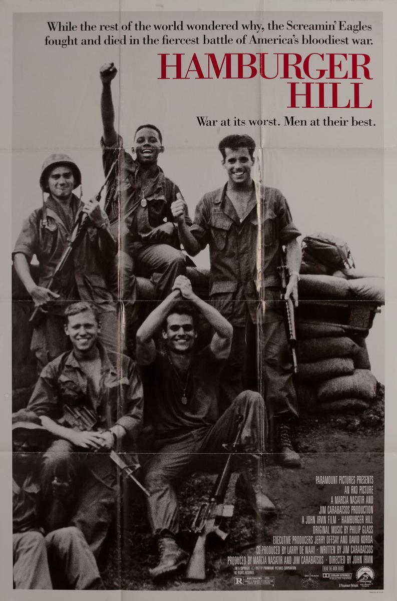 Hamburger Hill, 1 sheet movie poster