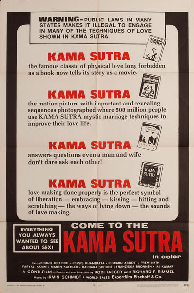 Come to the Kama Sutra, 1 sheet movie poster