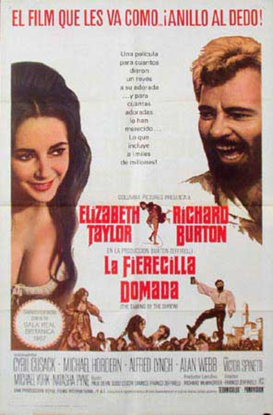 The Taming of the Shrew Original Vintage Movie Poster Spanish Release
