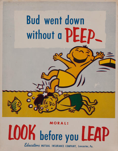 Look before you Leap, Mutual Insurance Health Poster