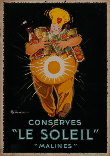 Conserves Le Soleil, French Advertising Card