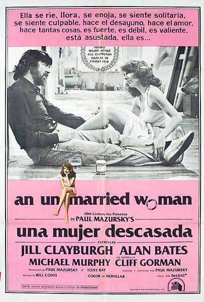 An Unmarried Woman Original Argentina Movie Poster