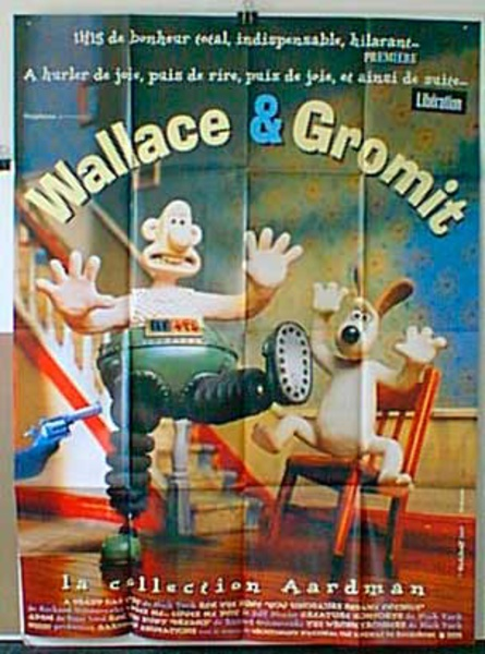 Wallace and Gromit Original French Movie Poster