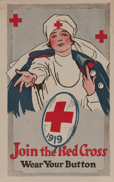 Join the Red Cross Wear Your Button 1919