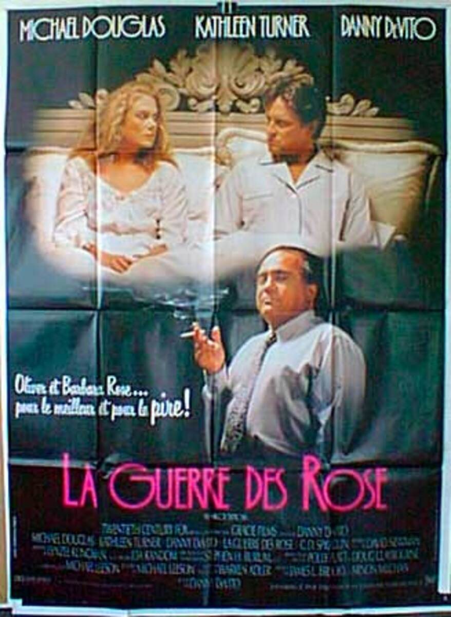 War of the Roses Original French Movie Poster