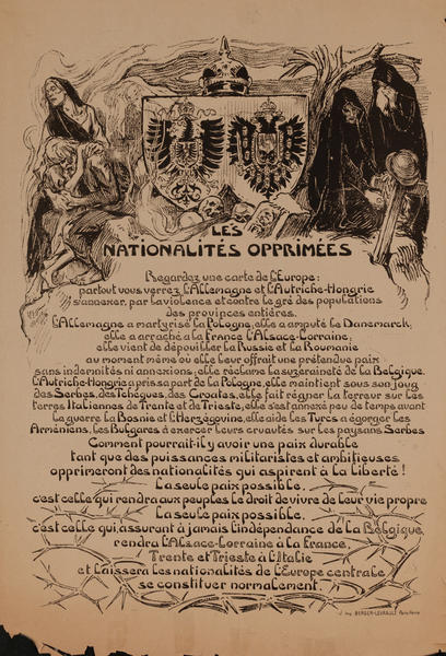 Les Nationalites Opprimes- French WWI Poster