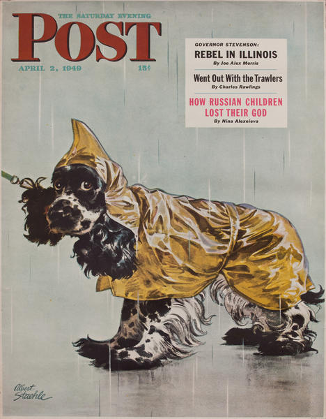 Saturday Evening Post, April 2, 1940 Newstand Advertising Poster