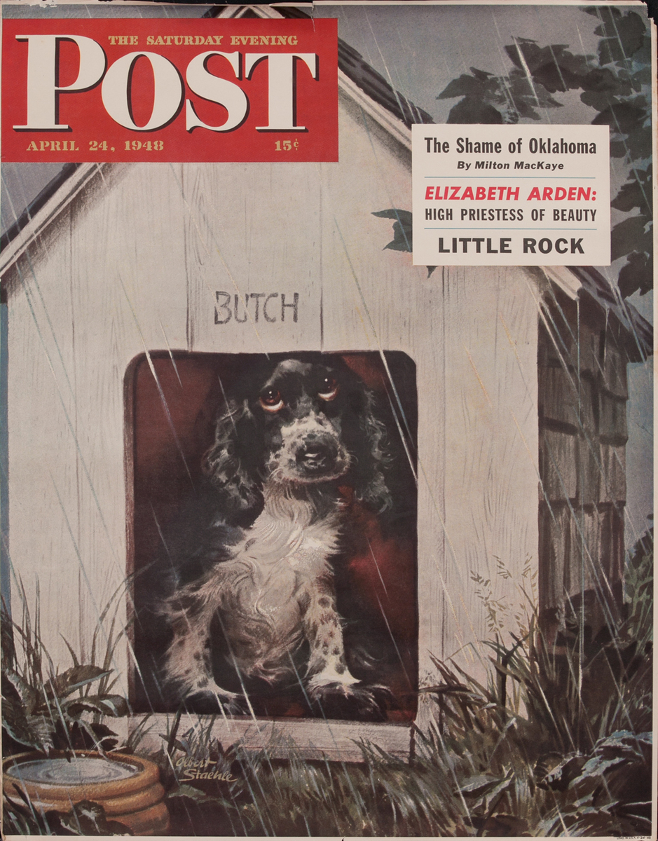 Saturday Evening Post, April 24, 1948 Newstand Advertising Poster