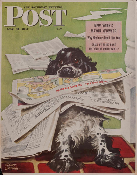Saturday Evening Post, May 31, 1947 Newstand Advertising Poster