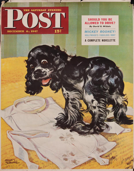 Saturday Evening Post, December 6, 1947 Newstand Advertising Poster