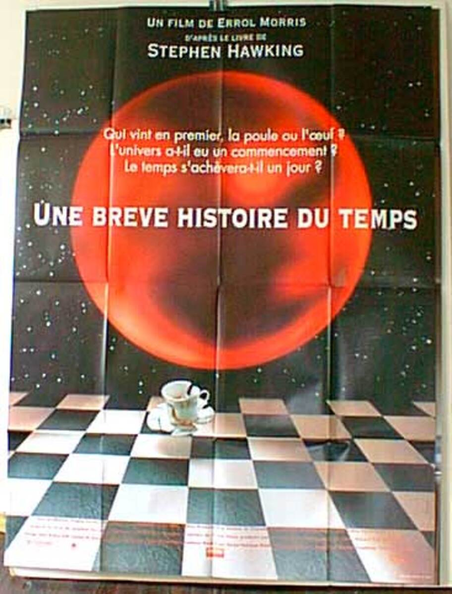 A Brief History of Time Original French Movie Poster