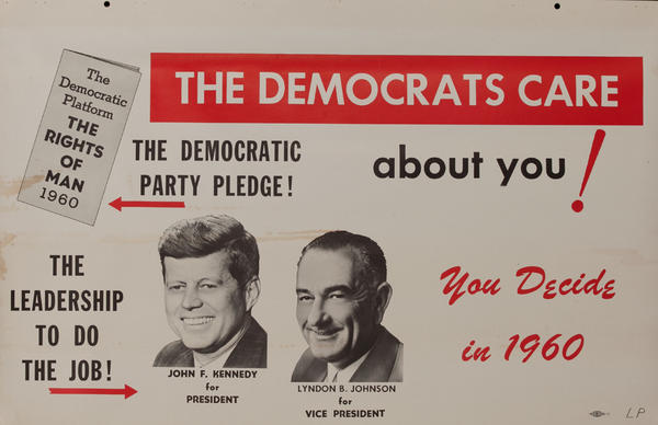 The Democrats Care about you! - John F Kennedy Presidential Campaign Chart