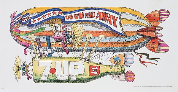 Un Un Away Original 7 Up Original Advertising Poster