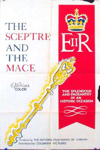 The Scepter and the Mace Queen Elizabeth Original Vintage Movie Poster