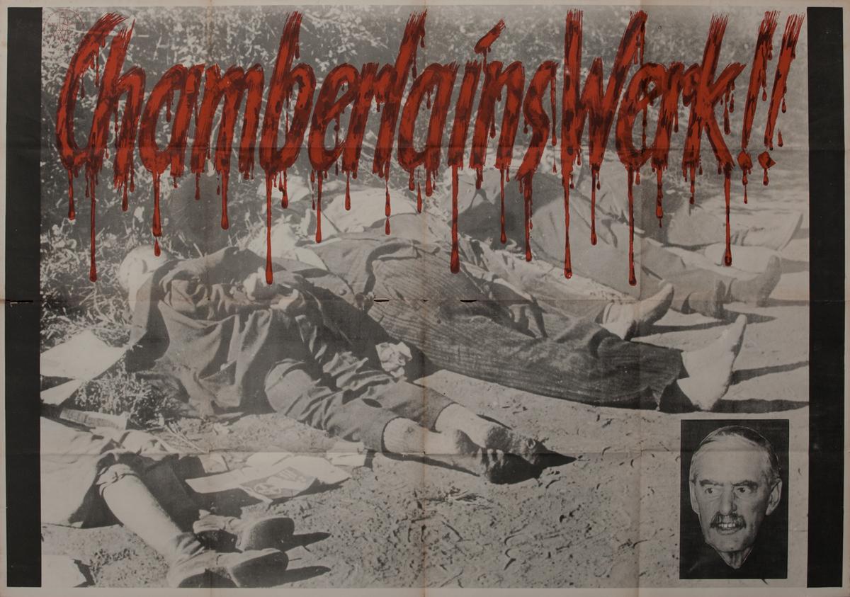 German WWII Poster Chamberlain's Work