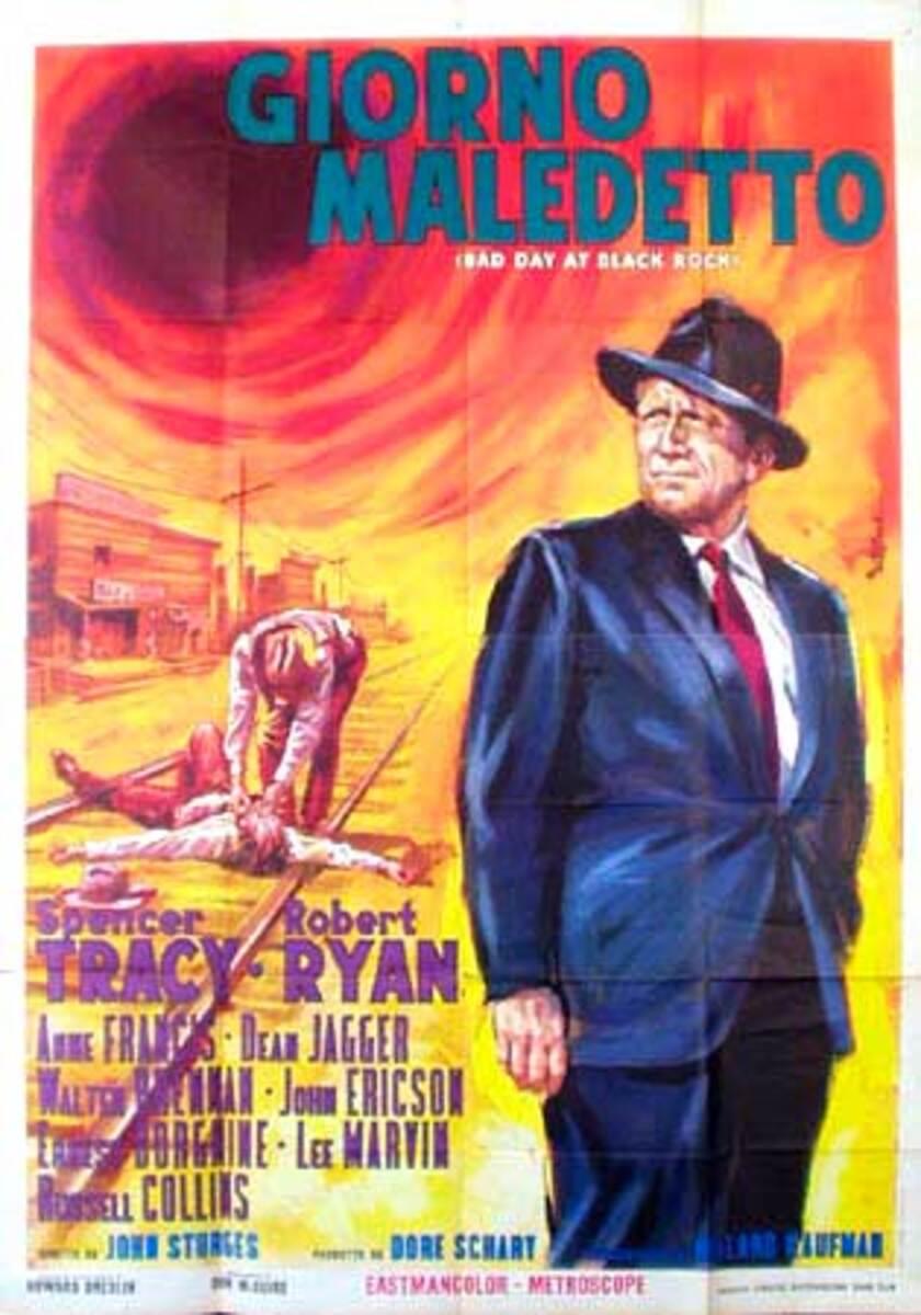 Bad Day at Black Rock Original Vintage Movie Poster Italian Release