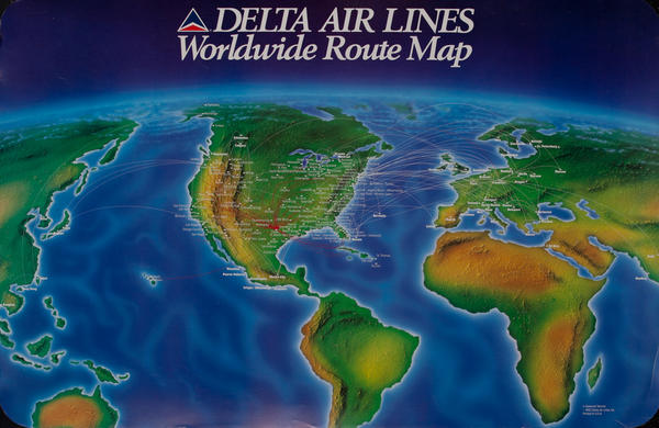 Delta Air Lines Worldwide Route Map