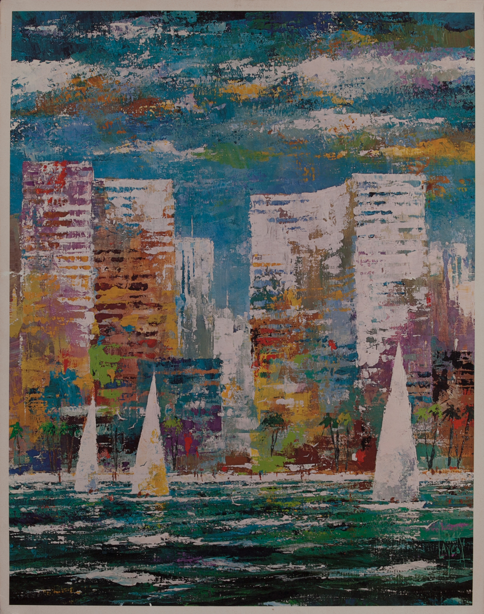 Delta Airlines Original Travel Poster, Miami Florida