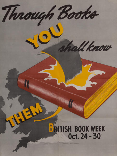 Through Books You Shall Know Them, British Book Week Poster