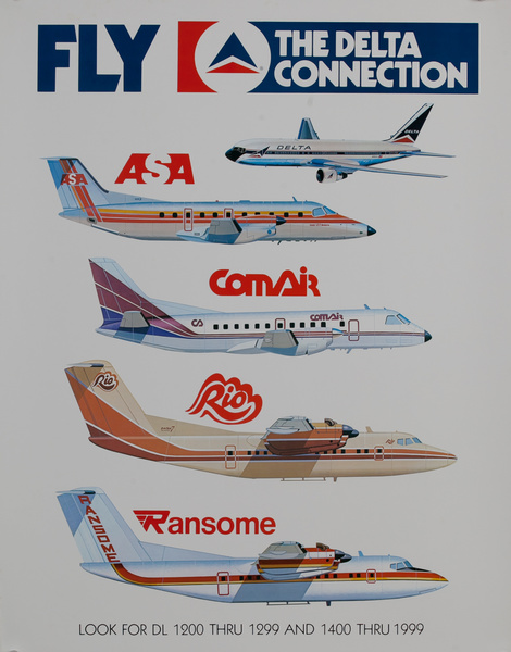 Fly The Delta Connection, Travel Poster