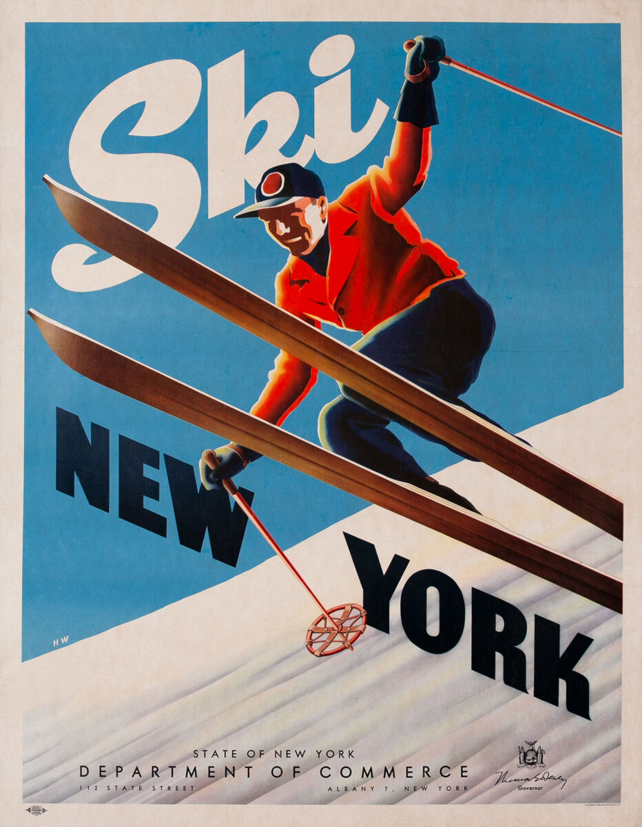 Ski New York, Travel Poster