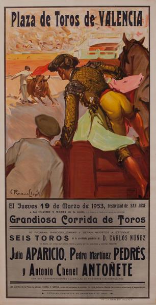 Plaza de Toros de Valencia Bullfight Poster
