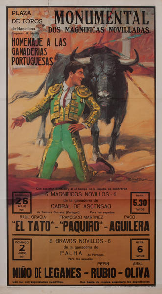 Plaza de Toros de Barcelona Monumental, Bullfight Poster