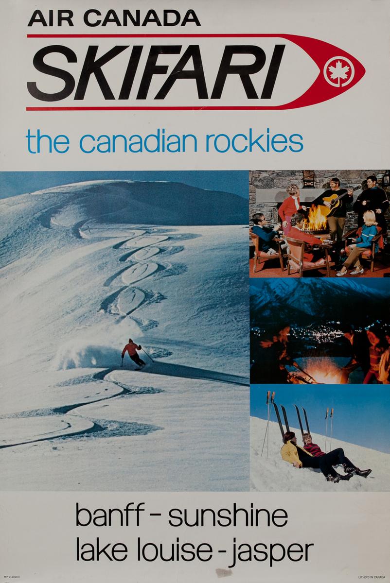 Air Canada Skifari The Canadian Rockies Travel Poster