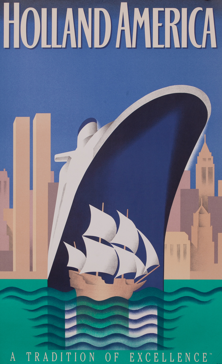 Holland America A Tradition of Excellence Travel Poster