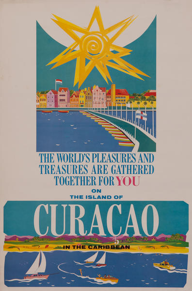 Together for you, Curacao in the Caribbean Travel Poster