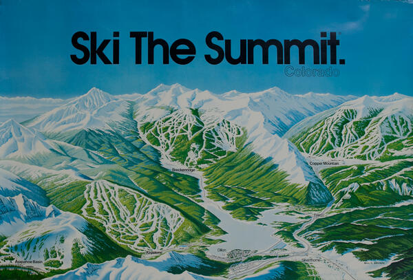 Ski The Summit, Colorado Ski Trail Map Poster