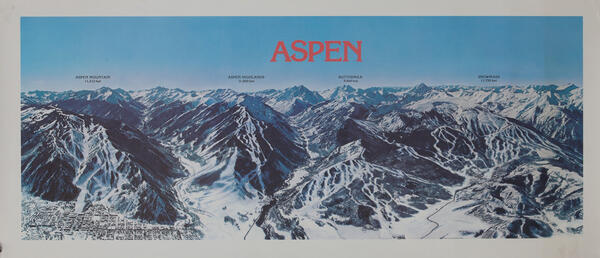 Aspen Colorado Ski Trails Map Poster