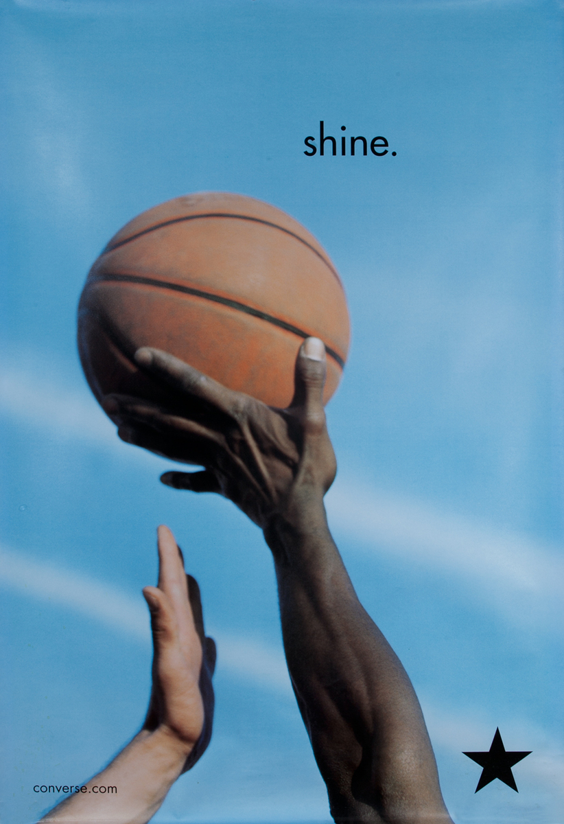 Converse Sneakers Shine Advertising Poster