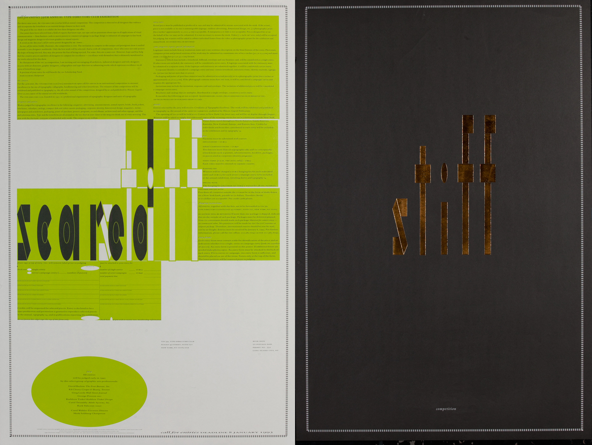 39th Annual Type Directors Club Call for Entries Poster