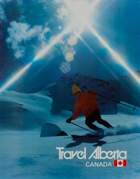 Travel Alberta - Canadian Ski Poster