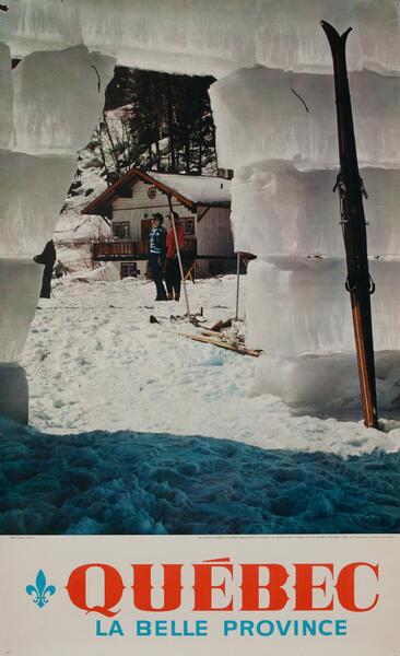 Quebec la Bellw Province - Canadian Ski Poster