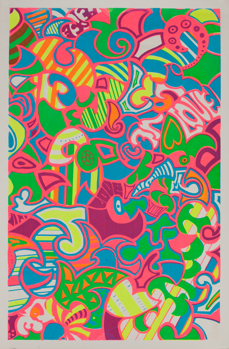 Love - Psychedelic 60s poster