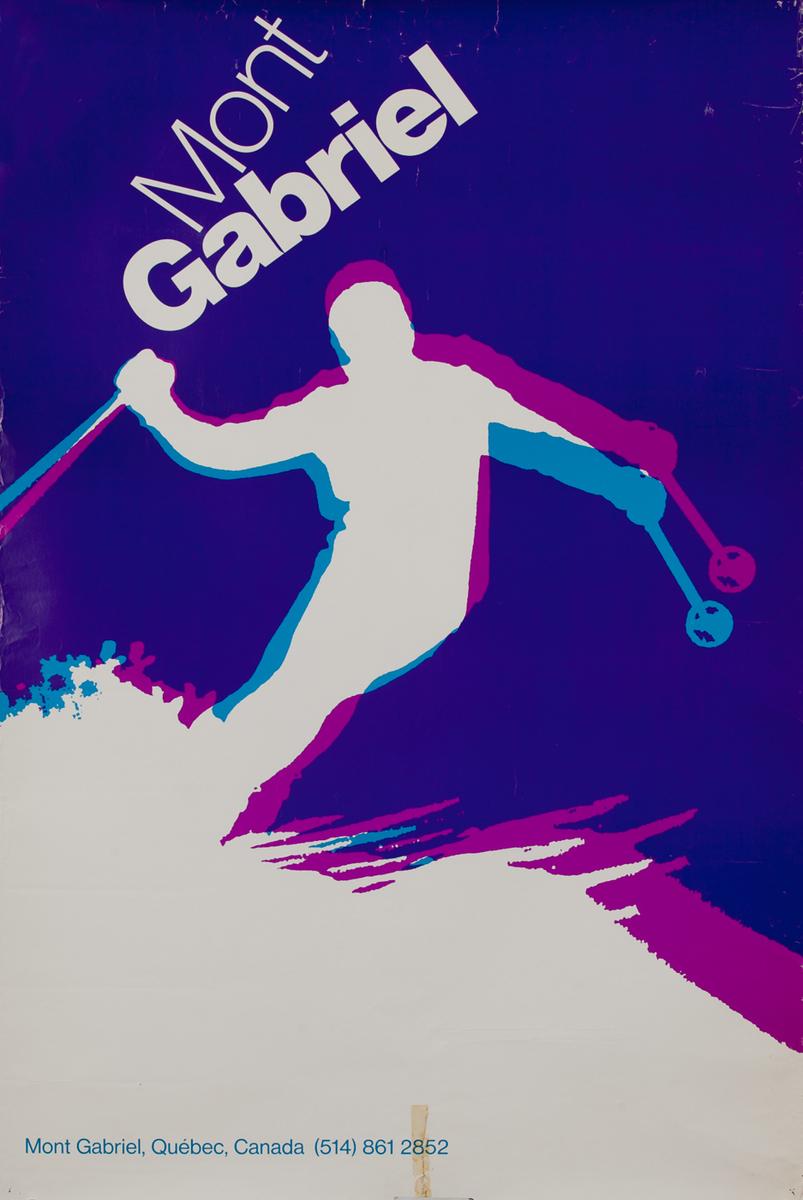 Mont Gabriel, Quebec - Canadian Ski Poster