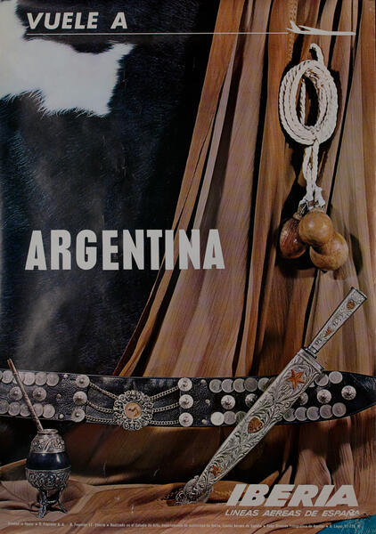Fly to Argentina - Iberia Airlines Travel Poster