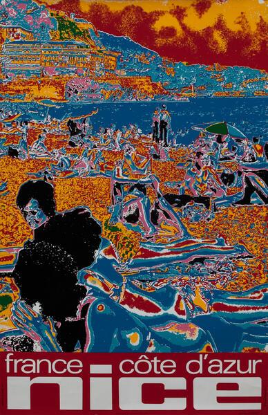 France Cote d'Azur Nice - Travel Poster