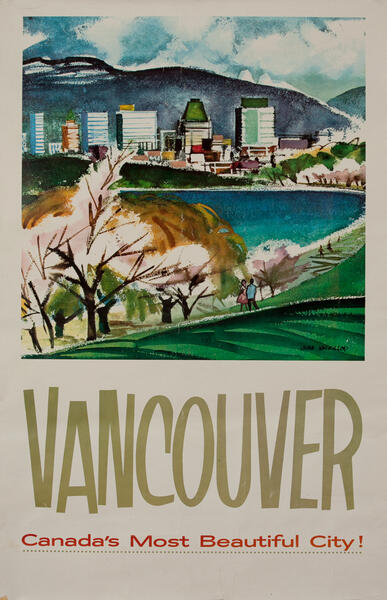 Vancouver, Canada's Most Beautiful City, Travel Poster