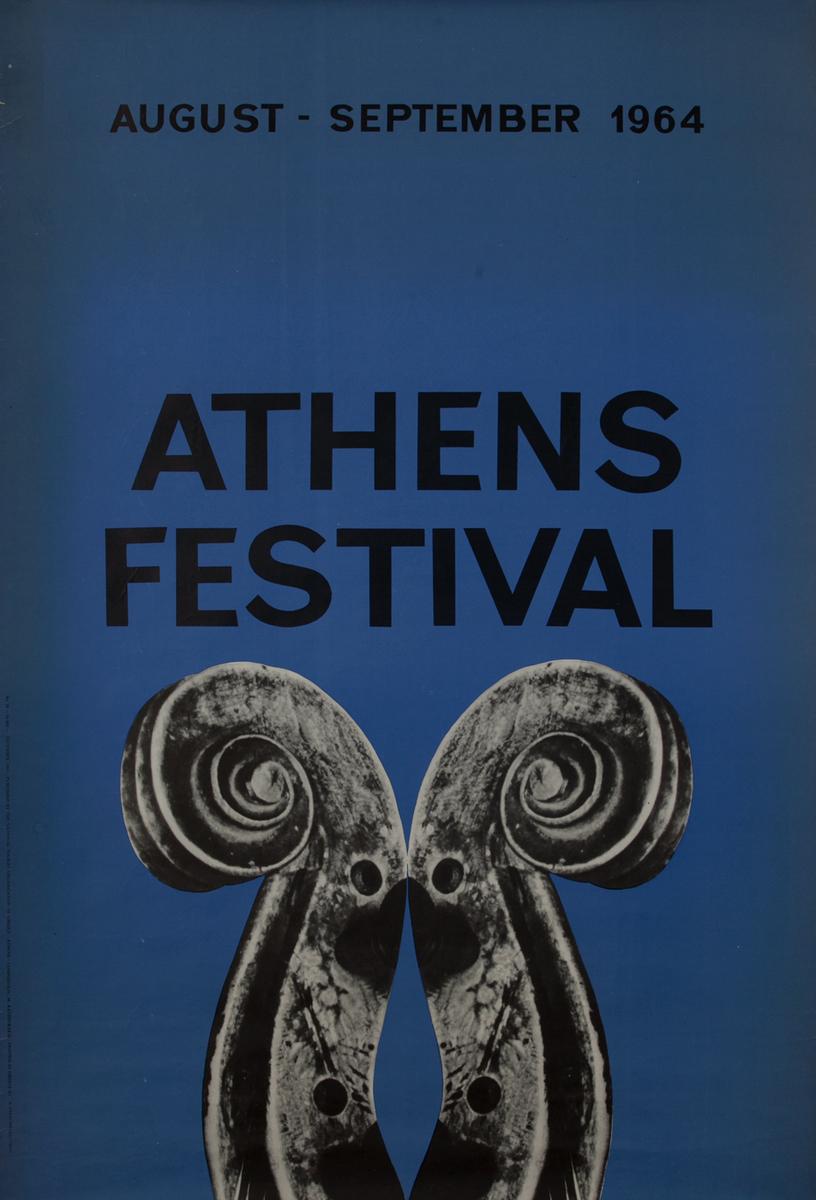 Athen Festival 1964, Greek Travel Poster