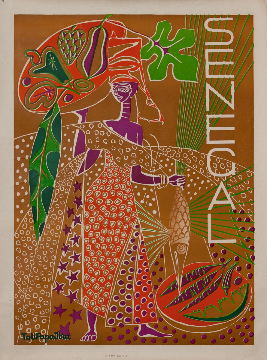 Senegal Travel Poster - Traditional Costumes